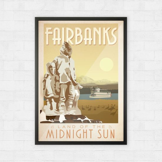 Vintage Fairbanks Travel Poster